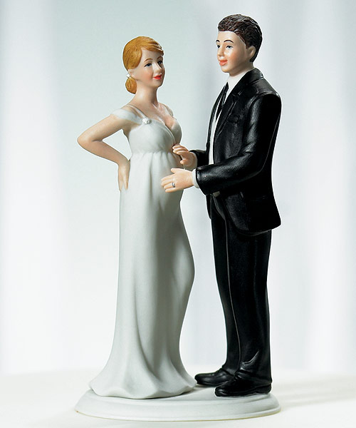 expecting-couple-wedding-cake-topper